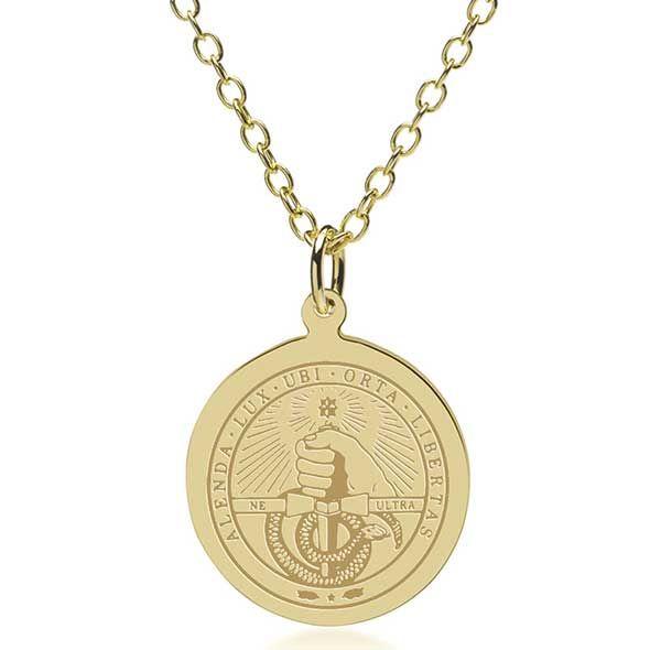 Davidson College 18K Gold Pendant & Chain