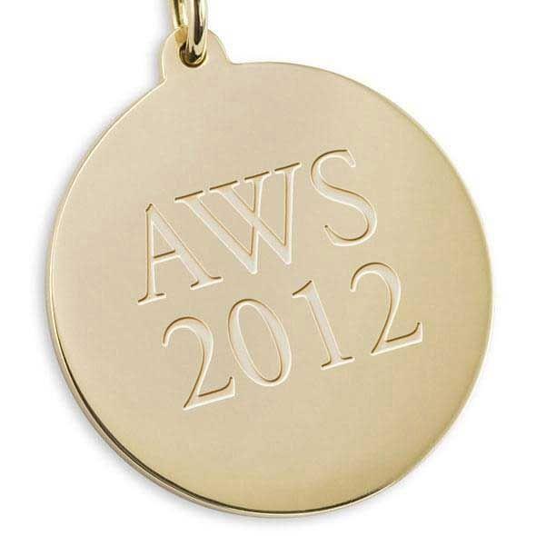 Davidson College 18K Gold Pendant & Chain - Image 3