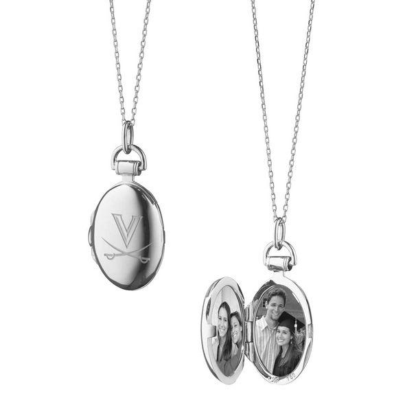 University of Virginia Monica Rich Kosann Petite Locket in Silver