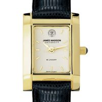 James Madison Women's Gold Quad with Leather Strap