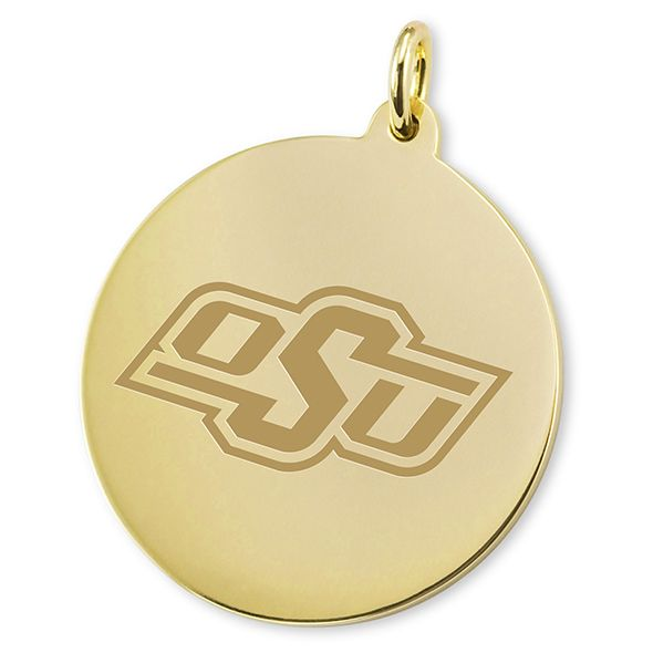 Oklahoma State 14K Gold Charm - Image 2