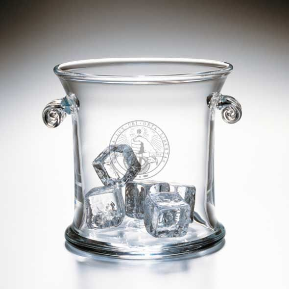 Davidson College Glass Ice Bucket by Simon Pearce
