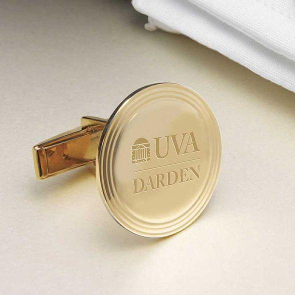 UVA Darden 14K Gold Cufflinks - Image 2