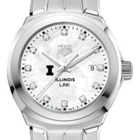 University of Illinois TAG Heuer Diamond Dial LINK for Women