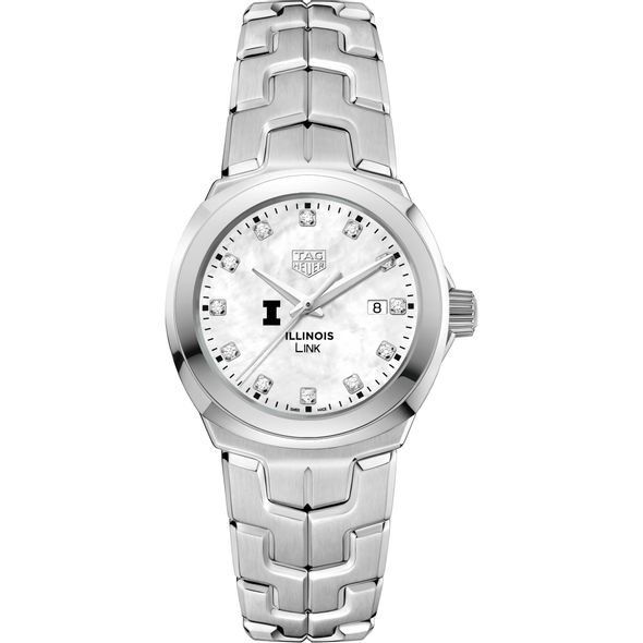 University of Illinois TAG Heuer Diamond Dial LINK for Women - Image 2
