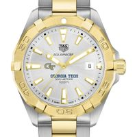 Georgia Tech Men's TAG Heuer Two-Tone Aquaracer