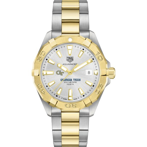 Georgia Tech Men's TAG Heuer Two-Tone Aquaracer - Image 2