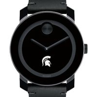 Michigan State University Men's Movado BOLD with Leather Strap