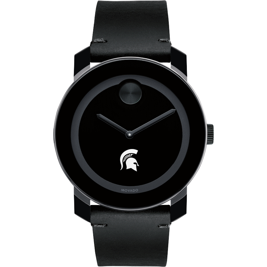 Michigan State Men's Movado BOLD with Leather Strap - Image 2