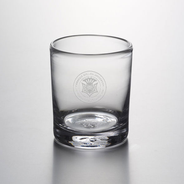 Carnegie Mellon University Double Old Fashioned Glass by Simon Pearce