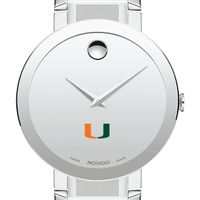 University of Miami Men's Movado Sapphire Museum with Bracelet