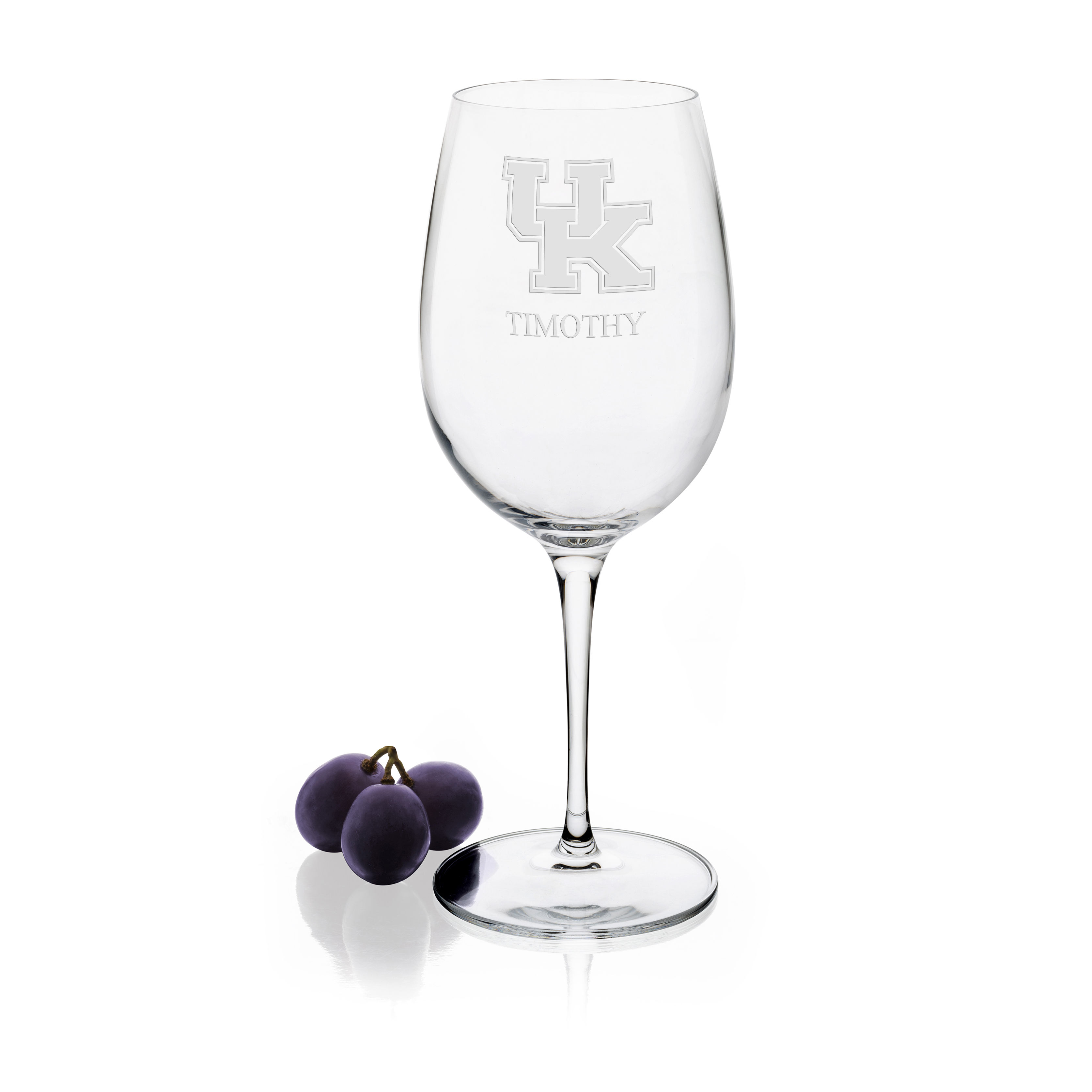 University of Kentucky Red Wine Glasses - Set of 2