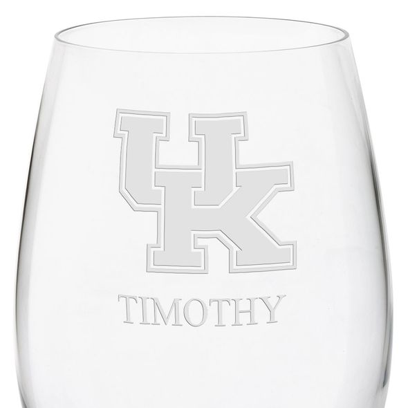 University of Kentucky Red Wine Glasses - Set of 2 - Image 3