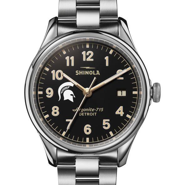 Michigan State Shinola Watch, The Vinton 38mm Black Dial