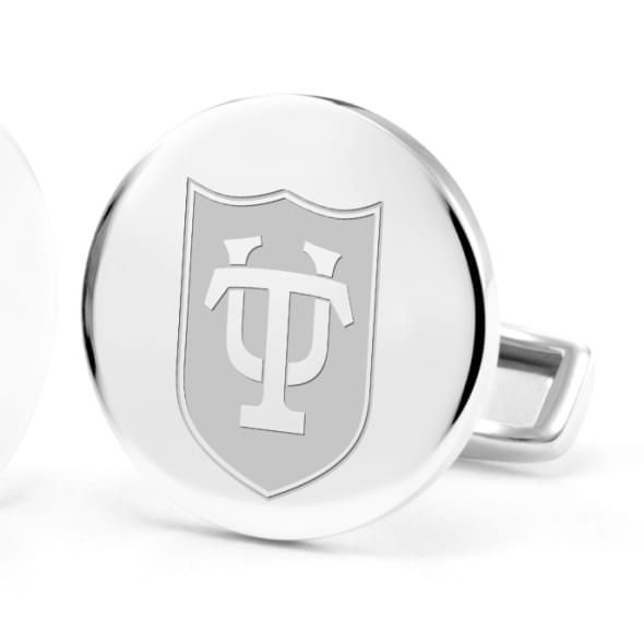 Tulane University Cufflinks in Sterling Silver - Image 2