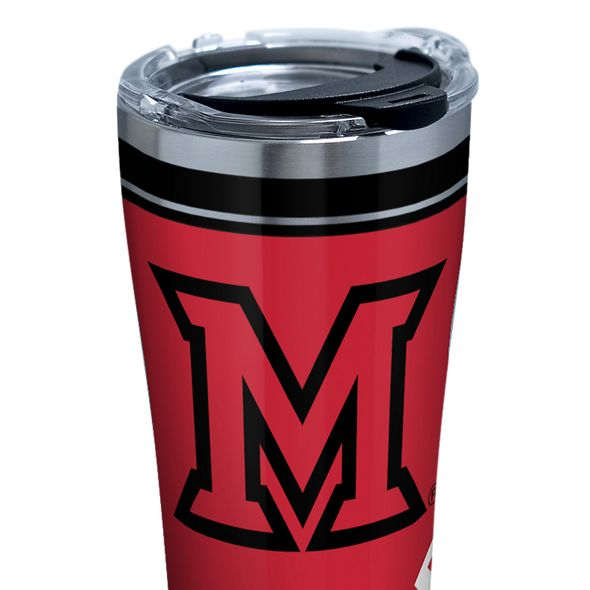 Miami University 20 oz. Stainless Steel Tervis Tumblers with Hammer Lids - Set of 2 - Image 2