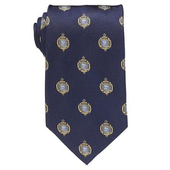 Naval Academy Insignia Tie in Naval Academy Blue
