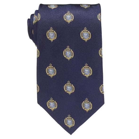 Naval Academy Insignia Tie in Naval Academy Blue - Image 2