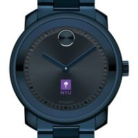 New York University Men's Movado BOLD Blue Ion with Bracelet