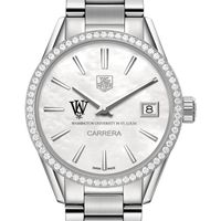 WashU Women's TAG Heuer Steel Carrera with MOP Dial & Diamond Bezel