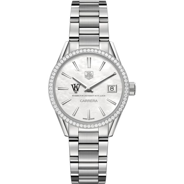 WashU Women's TAG Heuer Steel Carrera with MOP Dial & Diamond Bezel - Image 2