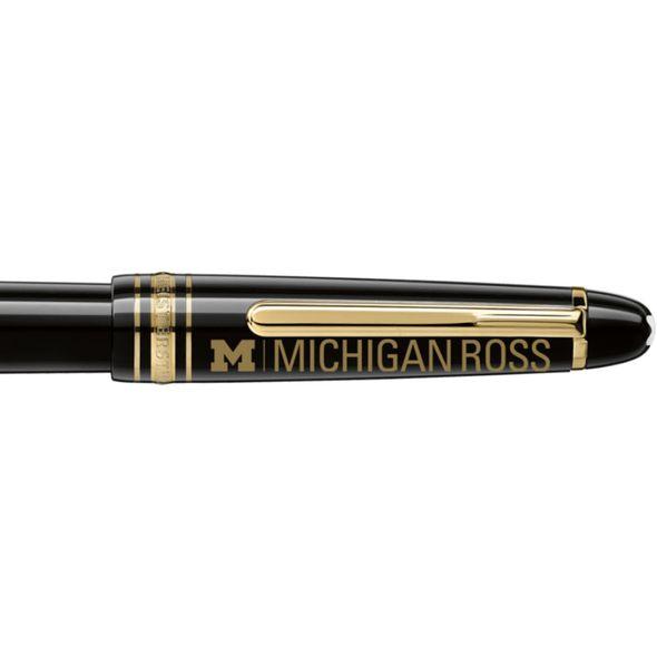 Michigan Ross Montblanc Meisterstück Classique Fountain Pen in Gold - Image 2