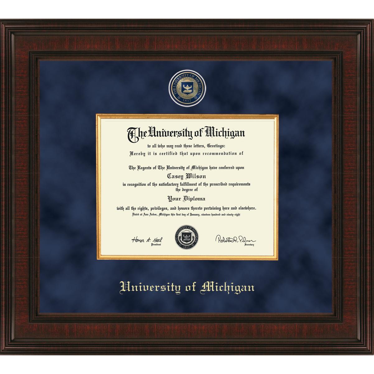 Michigan Excelsior Bachelor/Masters Diploma Frame