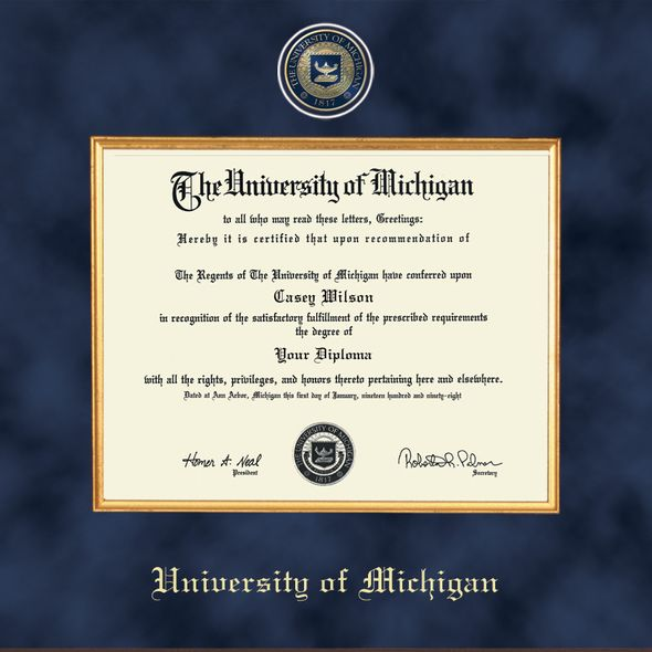 Michigan Excelsior Bachelor/Masters Diploma Frame - Image 2