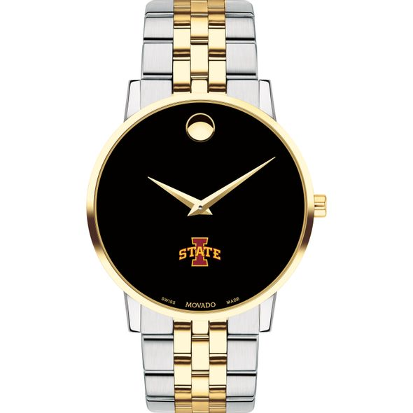 Iowa State Men's Movado Two-Tone Museum Classic Bracelet - Image 2
