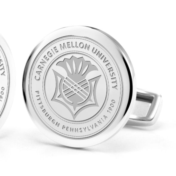 Carnegie Mellon University Cufflinks in Sterling Silver - Image 2