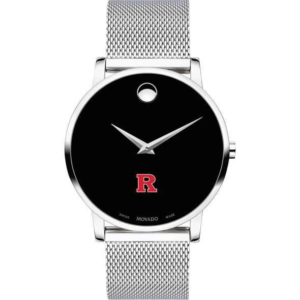 Rutgers University Men's Movado Museum with Mesh Bracelet - Image 2