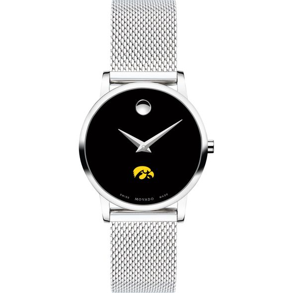University of Iowa Women's Movado Museum with Mesh Bracelet - Image 2