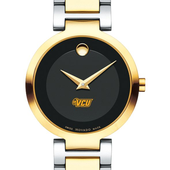 Virginia Commonwealth University Women's Movado Two-Tone Modern Classic Museum with Bracelet