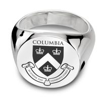 Columbia Sterling Silver Round Signet Ring