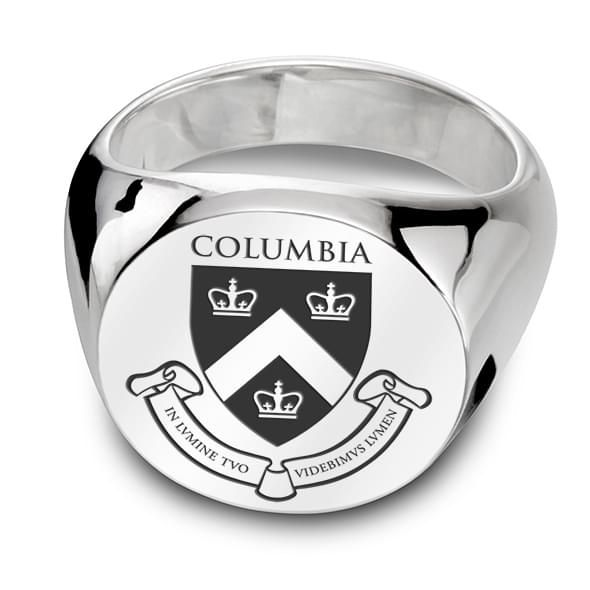Columbia Sterling Silver Round Signet Ring At M Lahart Amp Co