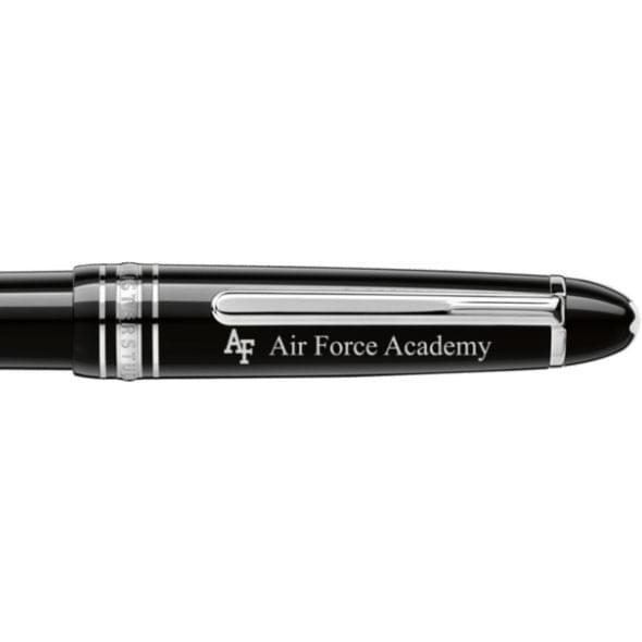 US Air Force Academy Montblanc Meisterstück Midsize Ballpoint Pen in Platinum - Image 2