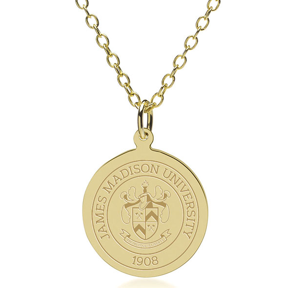 James Madison 18K Gold Pendant & Chain - Image 1