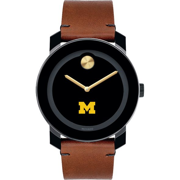 University of Michigan Men's Movado BOLD with Brown Leather Strap - Image 2