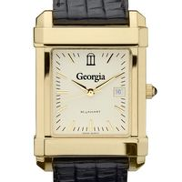 Georgia Men's Gold Quad with Leather Strap