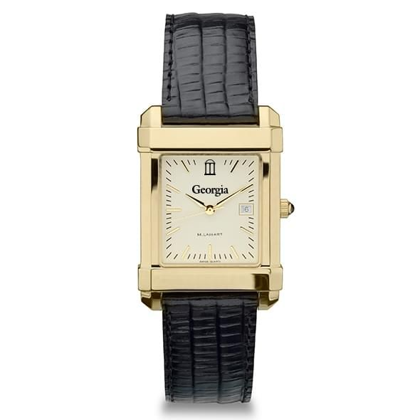 Georgia Men's Gold Quad with Leather Strap - Image 2