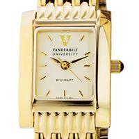 Vanderbilt Women's Gold Quad Watch with Bracelet