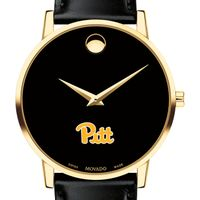 Pittsburgh Men's Movado Gold Museum Classic Leather