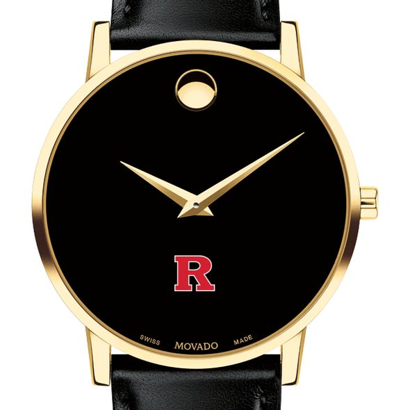 Rutgers University Men's Movado Gold Museum Classic Leather