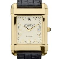 University of Richmond Men's Gold Quad with Leather Strap