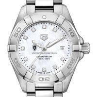 Wisconsin Women's TAG Heuer Steel Aquaracer with MOP Diamond Dial