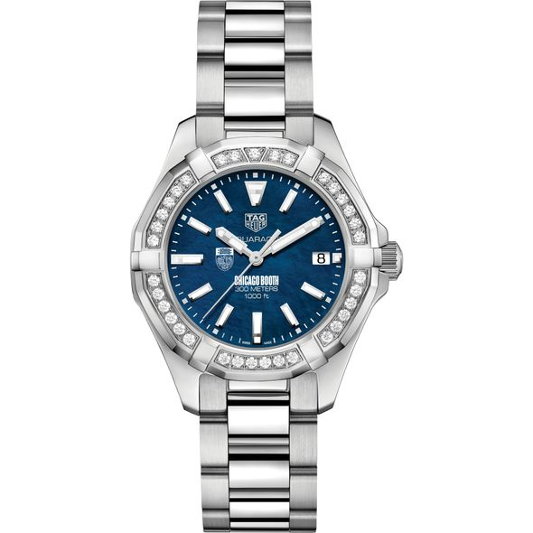 Chicago Booth Women's TAG Heuer 35mm Steel Aquaracer with Blue Dial - Image 2