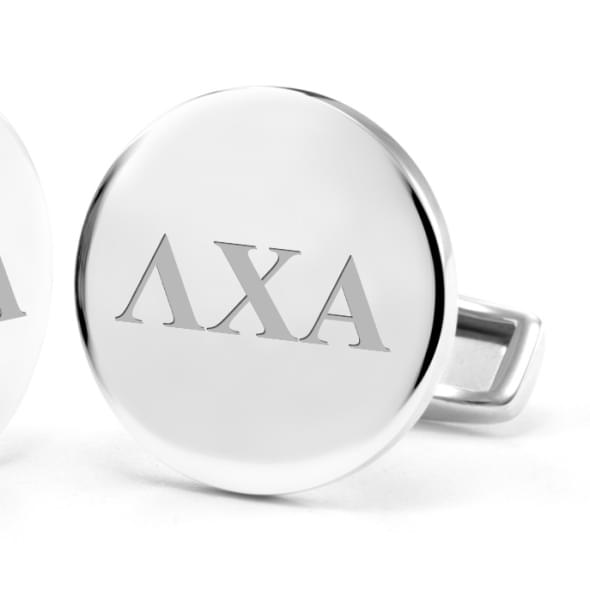 Lambda Chi Alpha Sterling Silver Cufflinks - Image 2