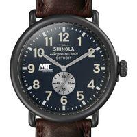 MIT Sloan Shinola Watch, The Runwell 47mm Midnight Blue Dial