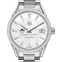 Columbia University Women's TAG Heuer Steel Carrera with MOP Dial & Diamond Bezel