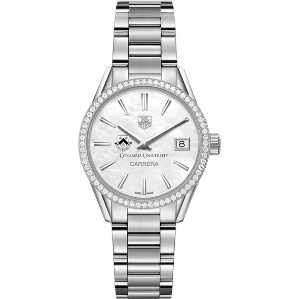 Columbia University Women's TAG Heuer Steel Carrera with MOP Dial & Diamond Bezel - Image 2